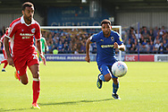AFC Wimbledon striker Andy Barcham (17) chasing ball during the EFL Sky Bet League 1 match between AFC Wimbledon and Scunthorpe United at the Cherry Red Records Stadium, Kingston, England on 15 September 2018.