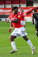 Portrait of Salford City forward Brandon Thomas-Asante (37)  during the EFL Sky Bet League 2 match between Salford City and Oldham Athletic at the Peninsula Stadium, Salford, United Kingdom on 31 October 2020.