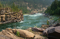Kootenai River at Kootenai Falls in northwestern Montana.