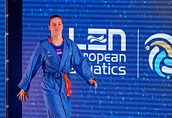 Joanne Koenders #1 of Netherlands of Netherlands during the semi final Netherlands vs Russia on LEN European Aquatics Waterpolo January 23, 2020 in Duna Arena in Budapest, Hungary
