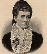 Maria Josepha de Braganca, Duchess of Bavaria (1857-1943) who assisted her husband the Duke, an ophthalmologist, in his work, particularly on cataracts, in his hospital at Tegernsee, Bavaria, Germany.  From 'The English Illustrated Magazine' (London, 1891).