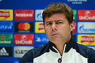 Mauricio Pochettino thrown by a question at Tottenham Hotspur pre match Press Conference  at Tottenham Training Centre, Enfield, United Kingdom on 13 September 2016. Photo by Jon Bromley.