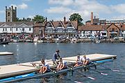 Henley-on-Thames. United Kingdom.  Hollandia Roeiclub Women's Quad boating. NED W4X.  2017 Henley Royal Regatta, Henley Reach, River Thames. <br /> <br /> <br /> 11:27:26  Sunday  02/07/2017   <br /> <br /> [Mandatory Credit. Peter SPURRIER/Intersport Images.2017 Henley Royal Regatta, Henley Reach, River Thames. <br /> <br /> <br /> 11:28:32  Sunday  02/07/2017   <br /> <br /> [Mandatory Credit. Peter SPURRIER/Intersport Images.