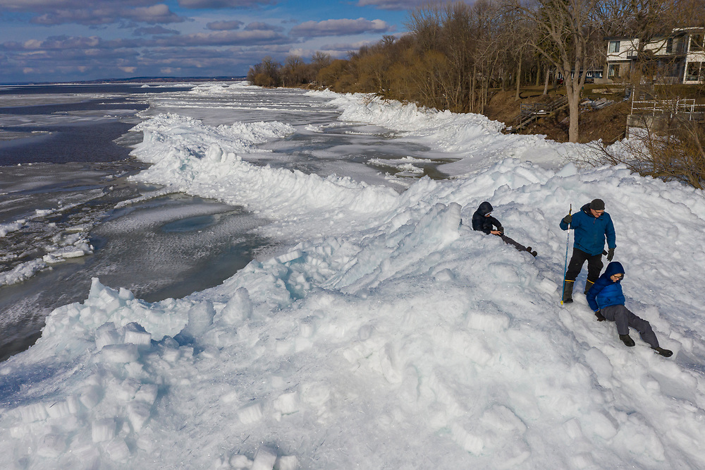 Ice shoves on Lake Winnebago in Wisconsin.  Photo by Mike Roemer
