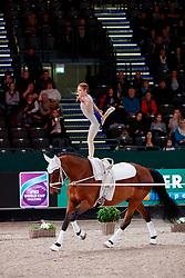 ANDERBERG Sandra (SWE), Quincy <br /> Leipzig - Partner Pferd 2018   <br /> FEI World Cup Vaulting Damen 1. Umlauf <br /> © www.sportfotos-lafrentz.de/Stefan Lafrentz