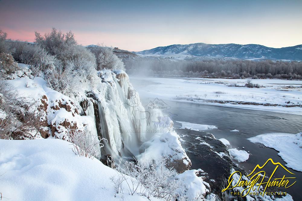 Winter at Fall Creek Falls in Swan Valley Idaho