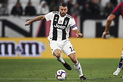 September 26, 2018 - Turin, Italy - Juventus defender Andrea Barzagli (15) in action during the Serie A football match n.6 JUVENTUS - BOLOGNA on 26/09/2018 at the Allianz Stadium in Turin, Italy. (Credit Image: © Matteo Bottanelli/NurPhoto/ZUMA Press)