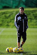 Swansea city manager Michael Laudrup looks on.Swansea city FC team training session at Llandarcy, Swansea, South Wales on Thursday 1st November 2012. The Swans play Chelsea in their next Barclays premier league match on the weekend. pic by Andrew Orchard, Andrew Orchard sports photography,