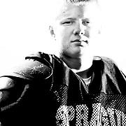 Jordan Giza at Sprague High School football practice on Thursday, Aug. 26, 2010.