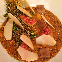 South America, Peru, Lima. Andean Curry with Quinoa, served at Astrid & Gaston restaurant in Lima.