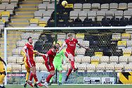 Aberdeen's Jack Mackenzie (29) heads clear during the Scottish Premiership match between Livingston and Aberdeen at Tony Macaroni Arena, Livingstone, Scotland on 1 May 2021.