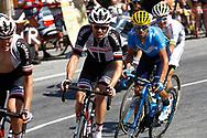 Tom Dumoulin (NED - Team Sunweb), Alejandro Valverde (ESP - Movistar) during the 105th Tour de France 2018, Stage 11, Alberville - La Rosiere Espace Bernardo (108,5 km) on July 18th, 2018 - Photo Luca Bettini / BettiniPhoto / ProSportsImages / DPPI