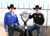 Professional Bull Riders Visit Empire State Building