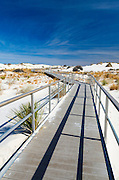 Interpretive boardwalk, White Sands National Park, New Mexico USA