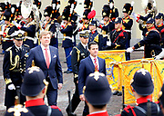 Koning Willem-Alexander en koningin Maxima ontvangen de Mexicaanse president Pena Nieto en zijn echtgenote Angelica Rivera de Pena /// King Willem-Alexander and Queen Maxima receive the Mexican president Pena Nieto and his wife Angelica Rivera de Pena<br /> <br /> Op de foto / On the photo:  Koning Willem-Alexander met de Mexicaanse president Pena Nieto /// King Willem-Alexander with the Mexican president Pena Nieto