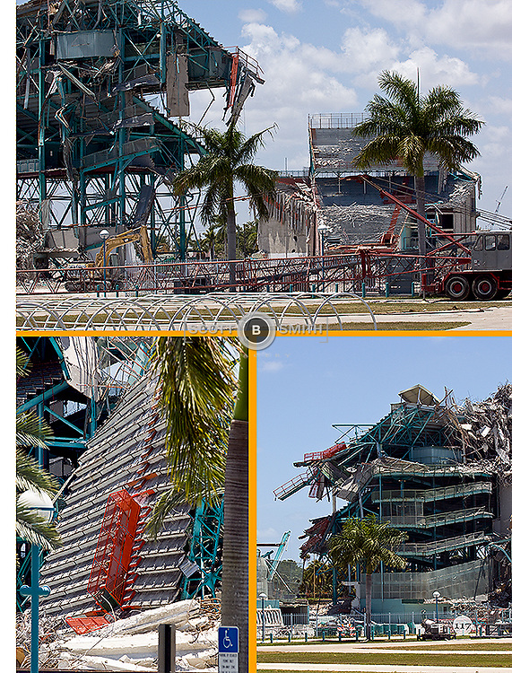 The Orange Bowl Stadium in Miami, Florida.  A photo documentation book produced in 2008 days before demolition began.