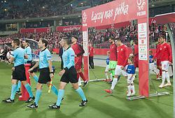 October 11, 2018 - Chorzow, Poland - Robert Lewandowski (POL) during the UEFA Nations League A group three match between Poland and Portugal at Silesian Stadium on October 11, 2018 in Chorzow, Poland. (Credit Image: © Foto Olimpik/NurPhoto via ZUMA Press)