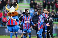 Joie N'Golo KANTE - 01.02.2015 - Caen / Saint Etienne - 23eme journee de Ligue 1 -<br />Photo : Vincent Michel / Icon Sport