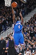 Kansas guard Sherron Collins drives in for the score against Kansas State in the first half at Bramlage Coliseum in Manhattan, Kansas, February 19, 2007.  K-State lead the Jayhawks at halftime 30-29.