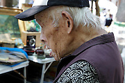 side view portrait of a elderly Japanese man