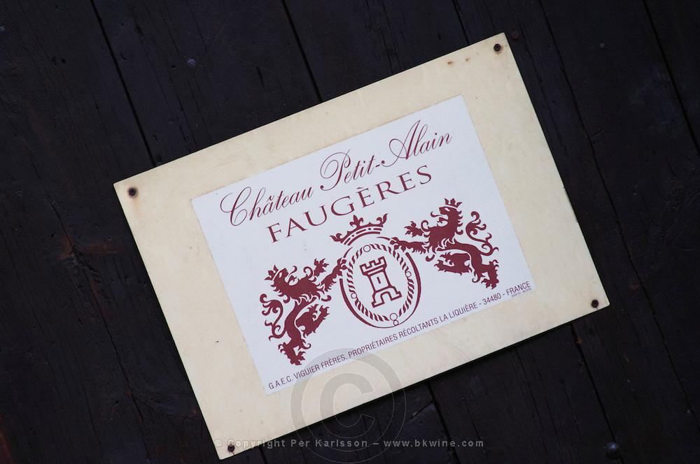 Chateau Petit Alain Faugeres. La Liquiere village. Faugeres. Languedoc. France. Europe.