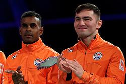 17-11-2019 NED: World Port Boxing Netherlands - Kazakhstan, Rotterdam<br /> 3rd World Port Boxing in Excelsior Stadion Rotterdam / Delano James (NED), Artjom Kasparian (NED)