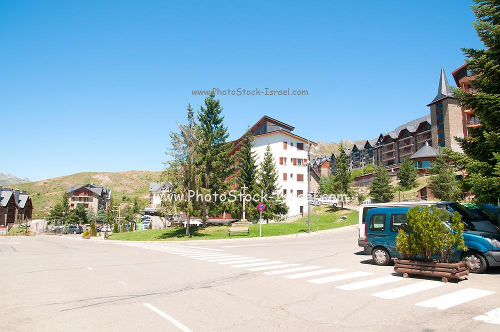 The ski resort village of Formigal (Aramón Formigal), in the Aragon Pyrenees of northeastern Spain,