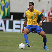 Romulo, Brazil, in action during the Brazil V Argentina International Football Friendly match at MetLife Stadium, East Rutherford, New Jersey, USA. 9th June 2012. Photo Tim Clayton
