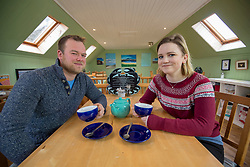 Rhuri and Rebecca Munro in the Boathouse restaurant, which Rebecca helps to run. Feature on the community on the island of Ulva, who have been awarded £4.4m in funding for their island buyout.