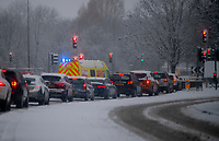 emergency services attended a three car smash at the graven hill roundabout  bicester  ,24th jan 2021