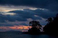Sunset over Coiba National Park from Pixvae, Panama