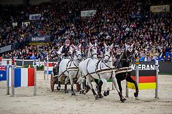 WEBER Chester (USA), Ordog, Maestoso 51 8, Maestoso Mano,  Panda,<br /> Stuttgart - German Masters 2019<br /> Preis der Firma iWEST<br /> Einlaufprüfung für den FEI WORLD CUP™ DRIVING 2019/2020<br /> Int. Zeit-Hindernisfahren für Vierspänner mit zwei unterschiedlichen Umläufen CAI-W<br /> 15. November 2019<br /> © www.sportfotos-lafrentz.de/Stefan Lafrentz