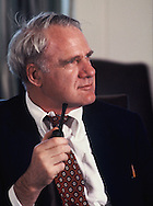 James R. Schlesinger,Secretary of the Department of Energy, under President Carter in April 1978<br /> Photo by Dennis Brack