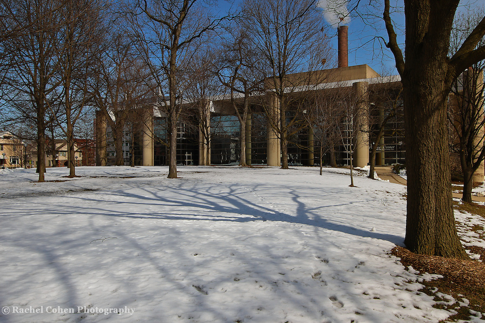"""""""Smoke and Shadows""""<br /> <br /> A wonderful winter image of the Power Center for Performing Arts, and it's surroundings on the campus of the University of Michigan in Ann Arbor!!<br /> <br /> Architecture: Structures, buildings and their details by Rachel Cohen"""