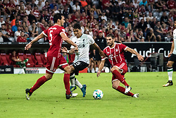 August 1, 2017 - Munich, Germany - Battle for the ball between Roberto Firminio v Mats Hummels during during the Audi Cup 2017 match between Bayern Muenchen and Liverpool FC at Allianz Arena on August 1, 2017 in Munich, Germany. (Credit Image: © Paolo Manzo/NurPhoto via ZUMA Press)