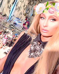 """Paris Hilton releases a photo on Instagram with the following caption: """"On set shooting my new TV show. \u2728\ud83c\udfa5\ud83d\udc78\ud83c\udffc\u2728 Check out the BTS on my #Snapchat at RealParisHilton \ud83d\udc8b"""". Photo Credit: Instagram *** No USA Distribution *** For Editorial Use Only *** Not to be Published in Books or Photo Books ***  Please note: Fees charged by the agency are for the agency's services only, and do not, nor are they intended to, convey to the user any ownership of Copyright or License in the material. The agency does not claim any ownership including but not limited to Copyright or License in the attached material. By publishing this material you expressly agree to indemnify and to hold the agency and its directors, shareholders and employees harmless from any loss, claims, damages, demands, expenses (including legal fees), or any causes of action or allegation against the agency arising out of or connected in any way with publication of the material."""