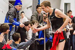 Galen Rupp set American record in 2-Mile at BU Terrier Classic Indoor Track, Rupp take victory lap around track lined with fans