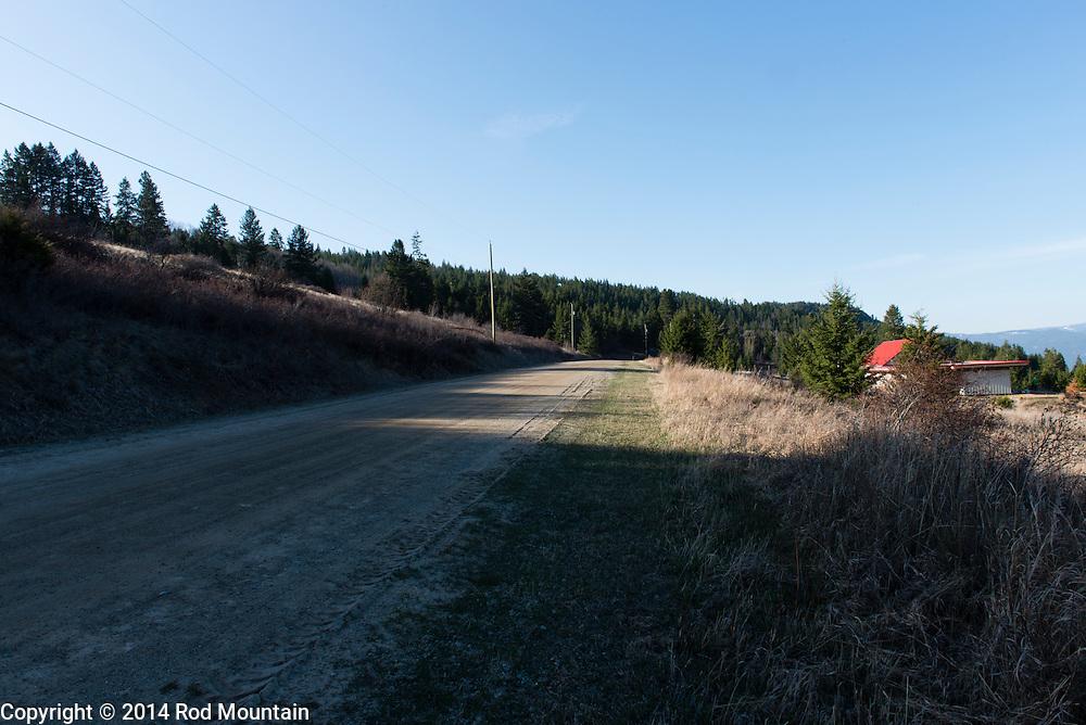 A country road in the Okanagan near Vernon, B.C.