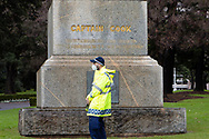 Police guard the Captain Cook statue in Hyde Park before the Black Lives Matter rally. This event was organised to rally against black deaths in custody in Australia as well as George Floyd, an unarmed black man killed at the hands of a police officer in Minneapolis, Minnesota and David Dungay who died in custody at Long Bay prison in Sydney. (Photo by Pete Dovgan/ Speed Media)