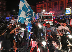 Napoli's fans celebrate in downtown Naples after Napoli won the TIM Italian Cup (Coppa Italia) final football match Napoli vs Juventus on June 17, 2020, played at the Olympic stadium in Rome behind closed doors as the country gradually eases the lockdown aimed at curbing the spread of the COVID-19 infection, caused by the novel coronavirus. Photo by Salvatore Laporta/IPA/ABACAPRESS.COM