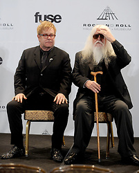 Elton John, left, and Leon Russell attend the 26th annual Rock and Roll Hall of Fame Induction Ceremony at The Waldorf Astoria in New York City, NY, USA on March 14, 2011. Photo by Dennis Van Tine/ABACAPRESS.COM