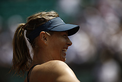 June 2, 2018 - Paris, Ile-de-France, France - Maria Sharapova of Russia reacts after winning her womens singles third round match against Karolina Pliskova of Czech Republic during day 7 of the 2018 French Open at Roland Garros on June 2, 2018 in Paris, France. (Credit Image: © Mehdi Taamallah/NurPhoto via ZUMA Press)