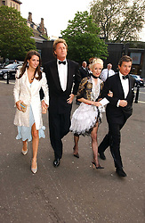 Left to right, MISS MARINA HANBURY, MR ROBIN HURLSTONE former partner of Joan Collins, DAPHNE GUINNESS and HUGO DE FERRANTI  at the NSPCC's Dream Auction held at The Royal Albert Hall, London on 9th May 2006.<br />