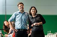 16 NOV 2019, BIELEFELD/GERMANY:<br /> Robert Habeck (L), B90/Gruene, Bundesvorsitzender, Annalena Baerbock (R), B90/Gruene, Bundesvorsitzende, Bundesdelegiertenkonferenz Buendnis 90 / Die Gruenen, Stadthalle<br /> IMAGE: 20191116-01-022<br /> KEYWORDS: Parteitag, Bundesparteitag, Party congress, BDK; Die Grünen
