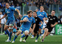 Rome, Italy -In the photo Bergamasco in advanced during .Olympic stadium in Rome Rugby test match Cariparma.Italy vs New Zealand (All Blacks). (Credit Image: © Gilberto Carbonari).