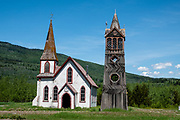 "1882 St. Paul's Anglican (Episcopal) Church, in Kitwanga or Gitwangak (or Gitwangax, ""people of the place of rabbits"" in the Gitxsan language), in British Columbia, Canada. Kitwanga is at the southern end of the scenic Stewart–Cassiar Highway (Highway 37, aka Dease Lake Highway or Stikine Highway, the northwesternmost highway in BC), just 4 km north of the Yellowhead Highway (Hwy 16). A long-standing village before contact, Kitwanga is within Gitwangak Indian Reserve No. 1."