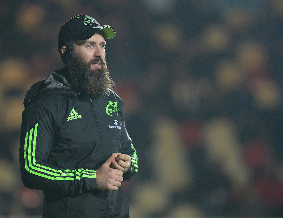 Munster's senior strength and conditioning Coach Aled Walters<br /> <br /> Photographer Ashley Crowden/CameraSport<br /> <br /> Rugby Union - Guinness PRO12 - Newport Gwent Dragons v Munster - Friday 21st November 2014 - Rodney Parade - Newport<br /> <br /> © CameraSport - 43 Linden Ave. Countesthorpe. Leicester. England. LE8 5PG - Tel: +44 (0) 116 277 4147 - admin@camerasport.com - www.camerasport.com