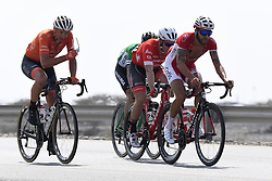 February 14, 2018 - Muscat, Oman - MUSCAT, SULTANATE OF OMAN - FEBRUARY 14 : CHETOUT Loic of Cofidis, Solutions Crédits, PATE Danny of Rally Cycling, FERRARI Fabricio of Caja Rural - Seguros RGA, IRIZAR Markel of Trek - Segafredo during stage 2 of the 9th edition of the 2018 Tour of Oman cycling race, a stage of 167.5 kms between Sultan Qaboos University and Al Bustan on February 14, 2018 in Muscat, Sultanate Of Oman, 14/02/2018 (Credit Image: © Panoramic via ZUMA Press)