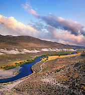 The Truckee River As It Flows Through The Desert Near Pyramid Lake Nevada, USA