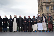 "Thousands of people, from police officers to faith leaders and members of the public, have linked hands on Westminster Bridge a week after the terror attack in the capital. Officers who attended the scene of the attack were urged to pay their respects, as well as victims and witnesses. Hundreds of members of the Ahmadiyya Muslim Youth Association were on the bridge, wearing T-shirts with the message ""I am a Muslim, ask me anything"". Those gathered on the bridge fell silent at 2.40pm - the time the first call was made to police exactly seven days ago."